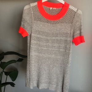 Anthropologie knitted color block sweater